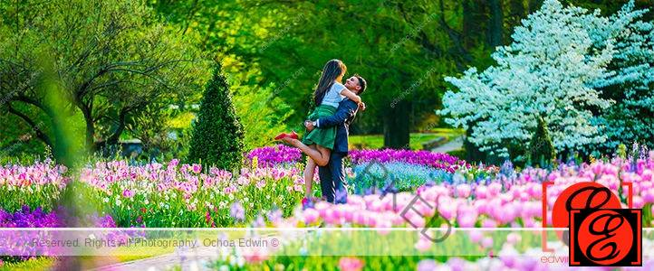 Longwood Gardens Engagement Photo Session : Lisha and Alvin