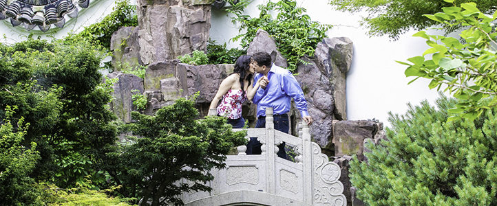 Snug Harbor Botanical Garden Engagement