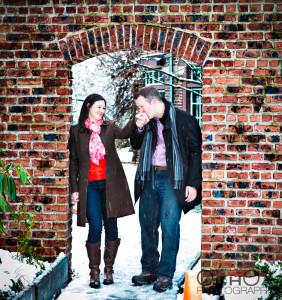 Winter Snow Engagement Photos