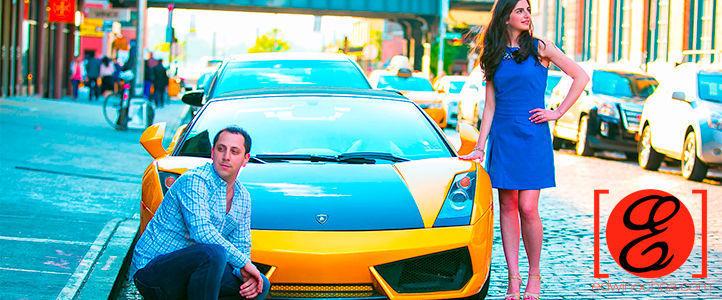 Lamborghini Engagement Photos