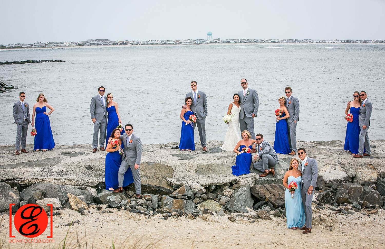 bridal party avalon beach wedding