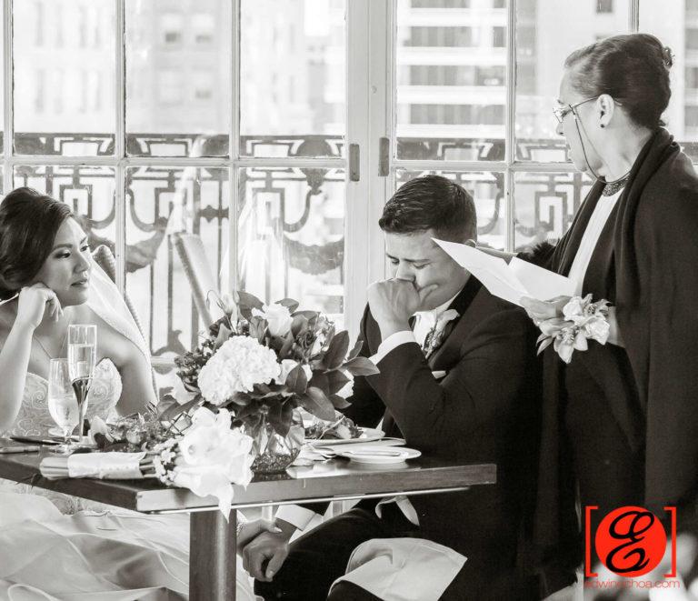 mom speech made bride and groom cry